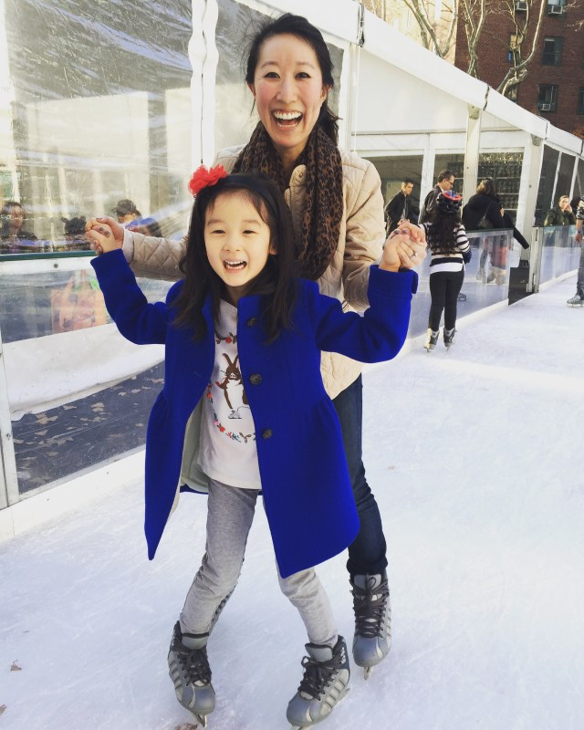 ice skating with Gemma