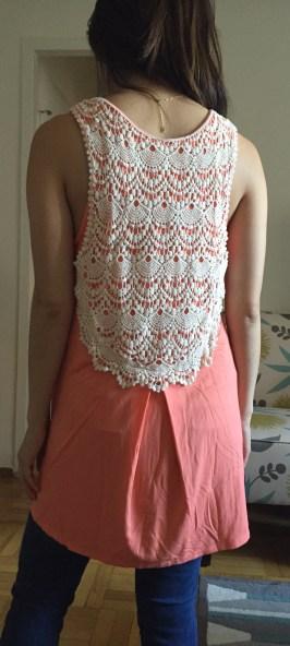 coral tunic
