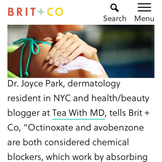 Talking to britandco about different types of sunscreens and whyhellip