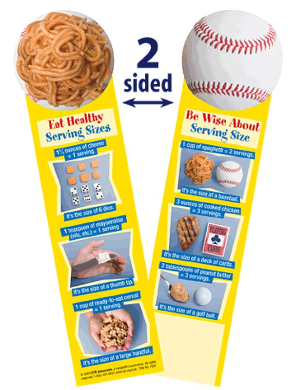 Be Wise About Serving Size Bookmark - Bookmark - Tobacco Education