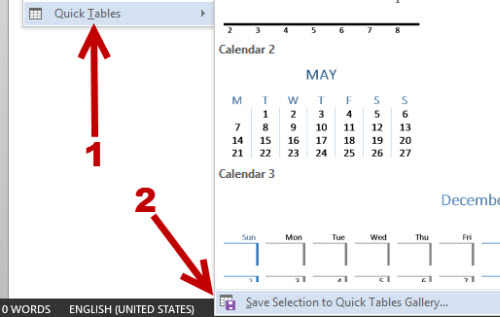 Word 2013 Save Table Templates for Quicker Access - word template table