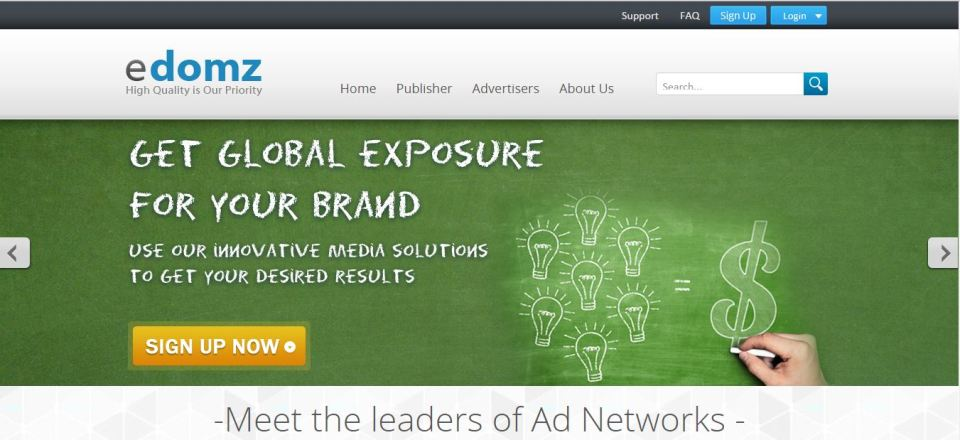 best ad networks edomz