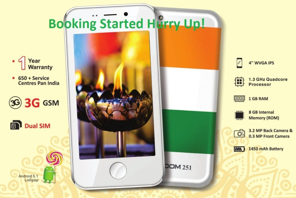 Freedom 251 mobile online booking