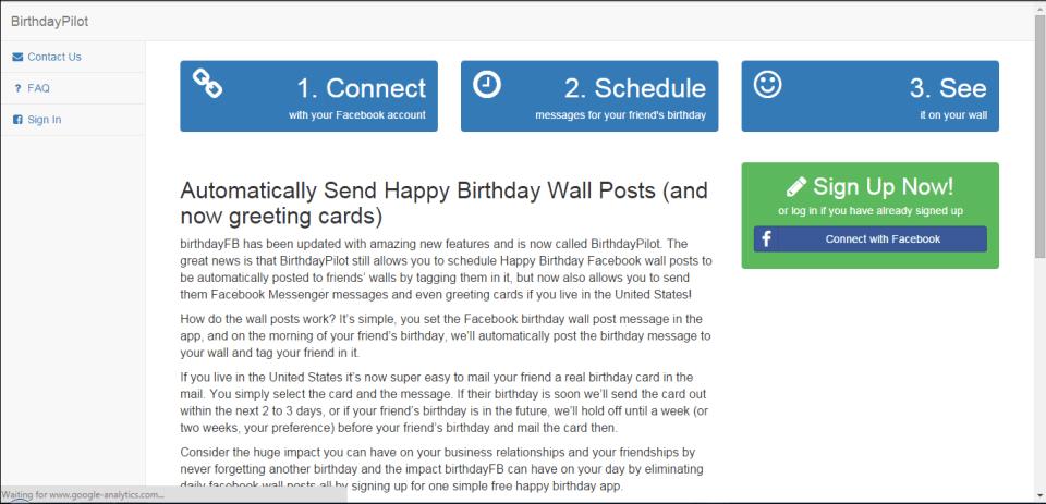 auto-post birthday wishes