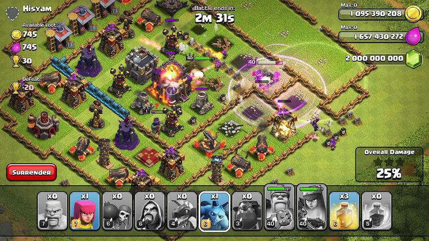 clash of clans flamewall mod