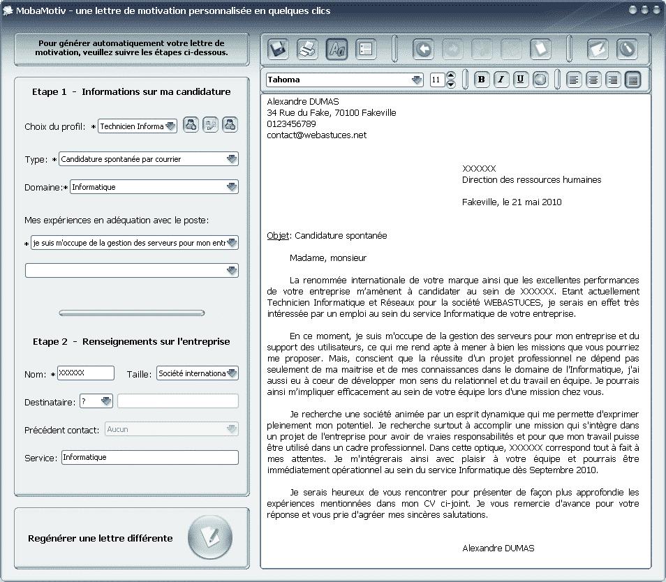 lettre de motivation cv concours gardien de le paix