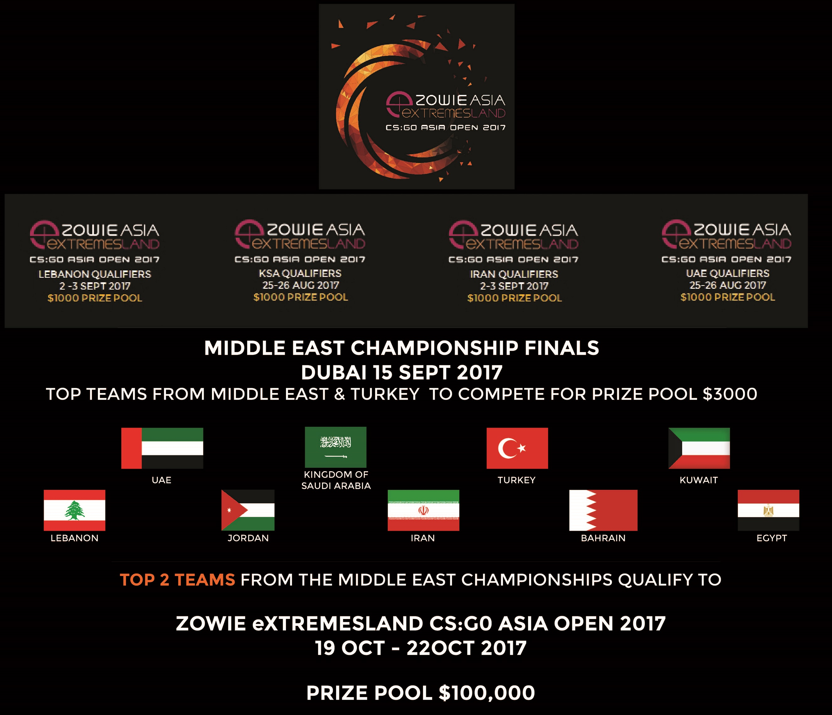 ZOWIE eXTREMESLAND CS: GO Asia Open 2017 Gaming Competition is back!