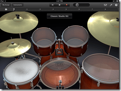 GarageBand Drum Kit iPad