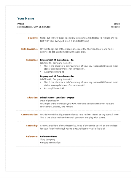 cover letter for functional resume template microsoft