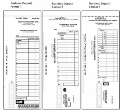 Manual Deposit Slips for Business  Personal