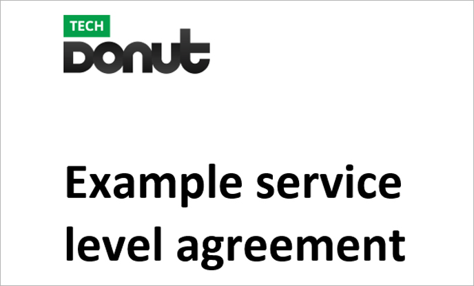 Sample service level agreement Tech Donut - sample maintenance contract template