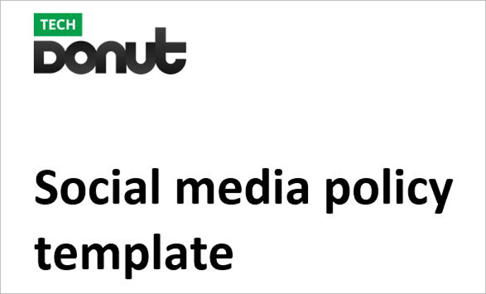 Sample social media policy template Tech Donut