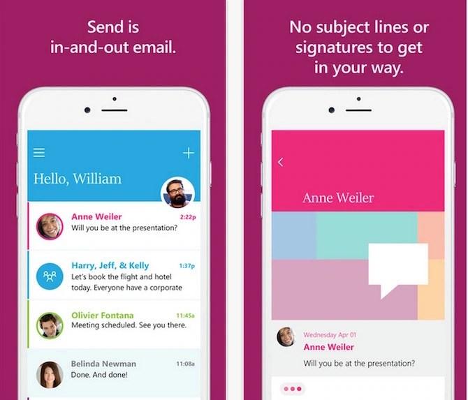 Send an email app like messenger