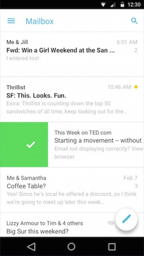 Best free email apps for Android Devices to use multiplae email accounts Mailbox