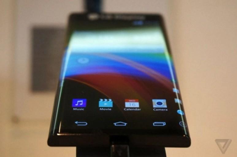 LG curved edge mobile phone