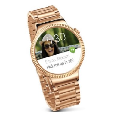 Preorder Huawei SmartWatch Android in gold color