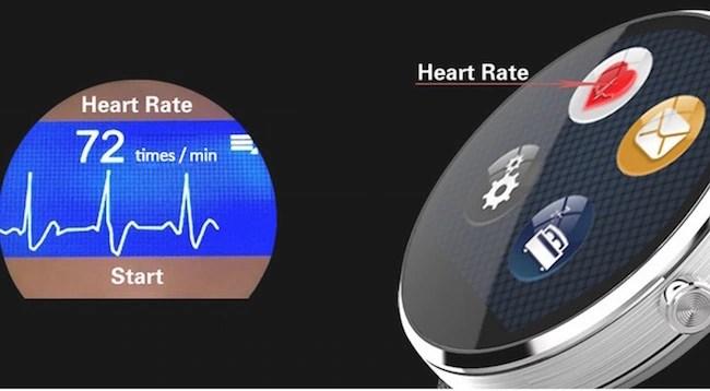 DW360 MTK2502 SmartWatch heart rate sensor
