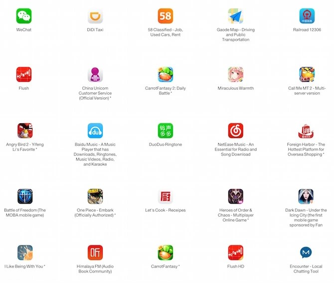top 25 infected apps by XcodeGhost Malware
