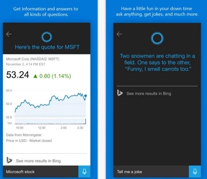 Cortana for iOS