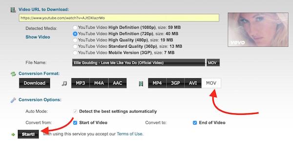 Start converting YouTube