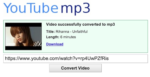 YouTube Video Converter Mp3