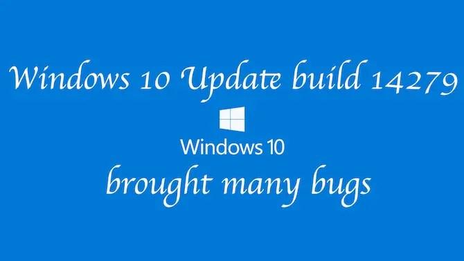 Windows 10 update bug