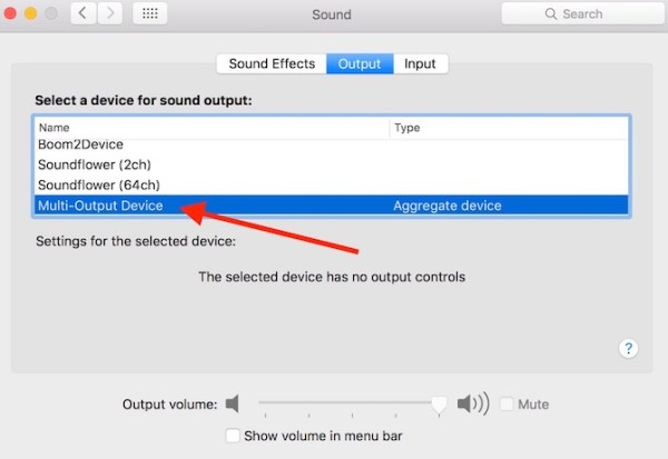 Selecting Audio Output