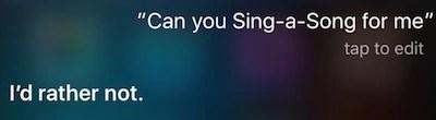 Siri refuses