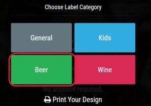 Choose Label Category