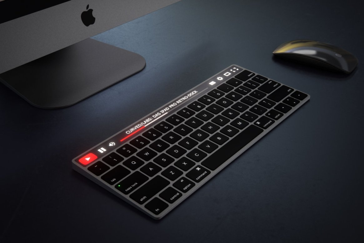 IMAC Keyboard with OLED Touch Bard 19