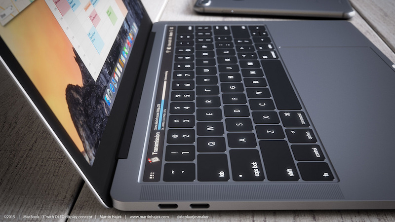 MacBook with OLED Touch Bar 4