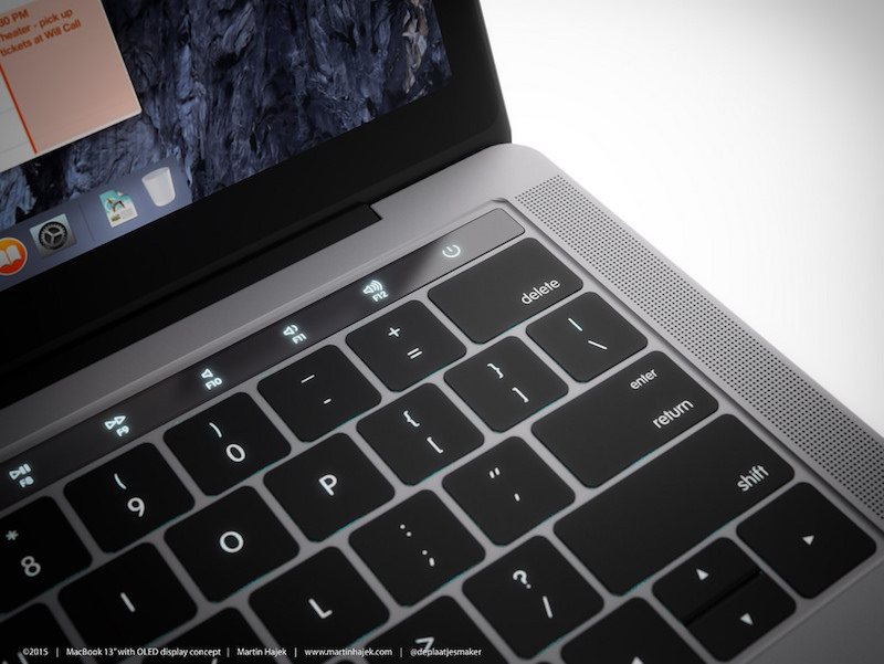 MacBook with OLED Touch Bar 6
