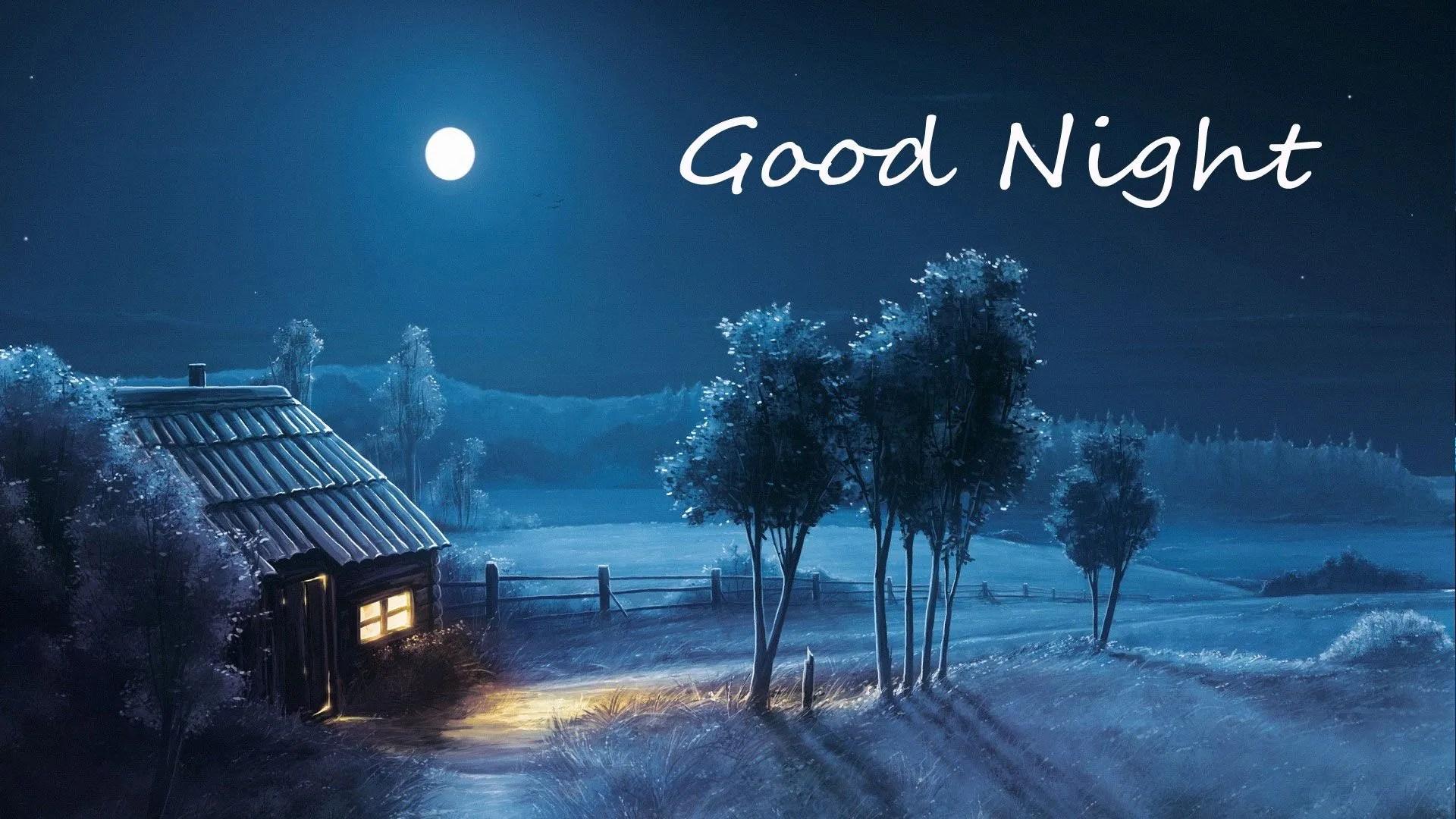 Good night home moon image