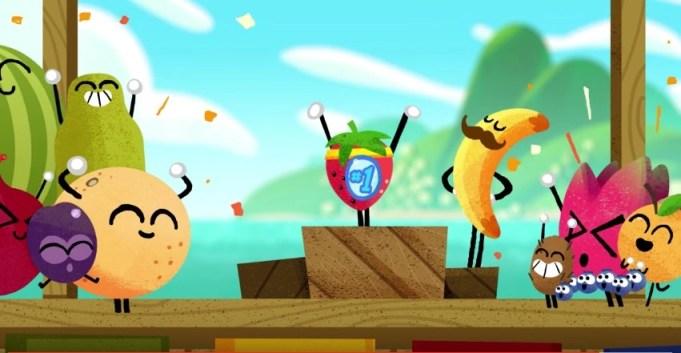 Google Fruit Doodle Olympics game