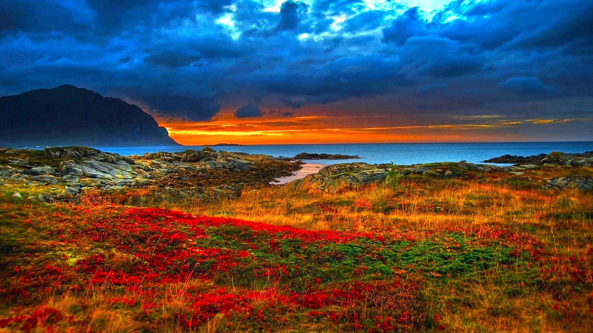 Nature red mountain wallpaper