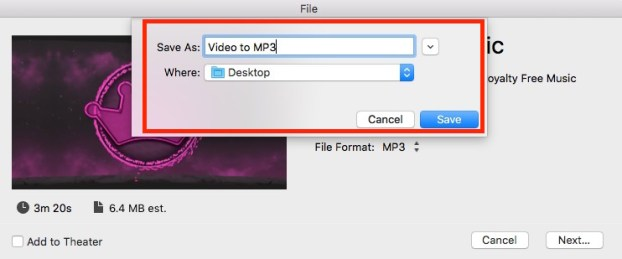 Video converted to MP3