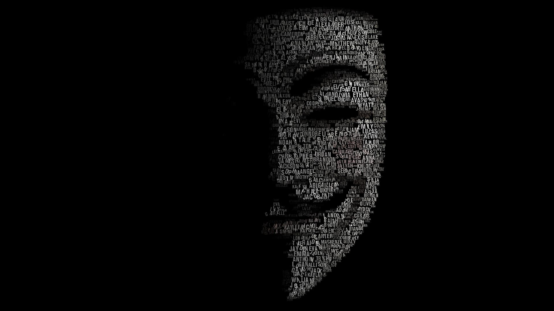 Anonymous Black background