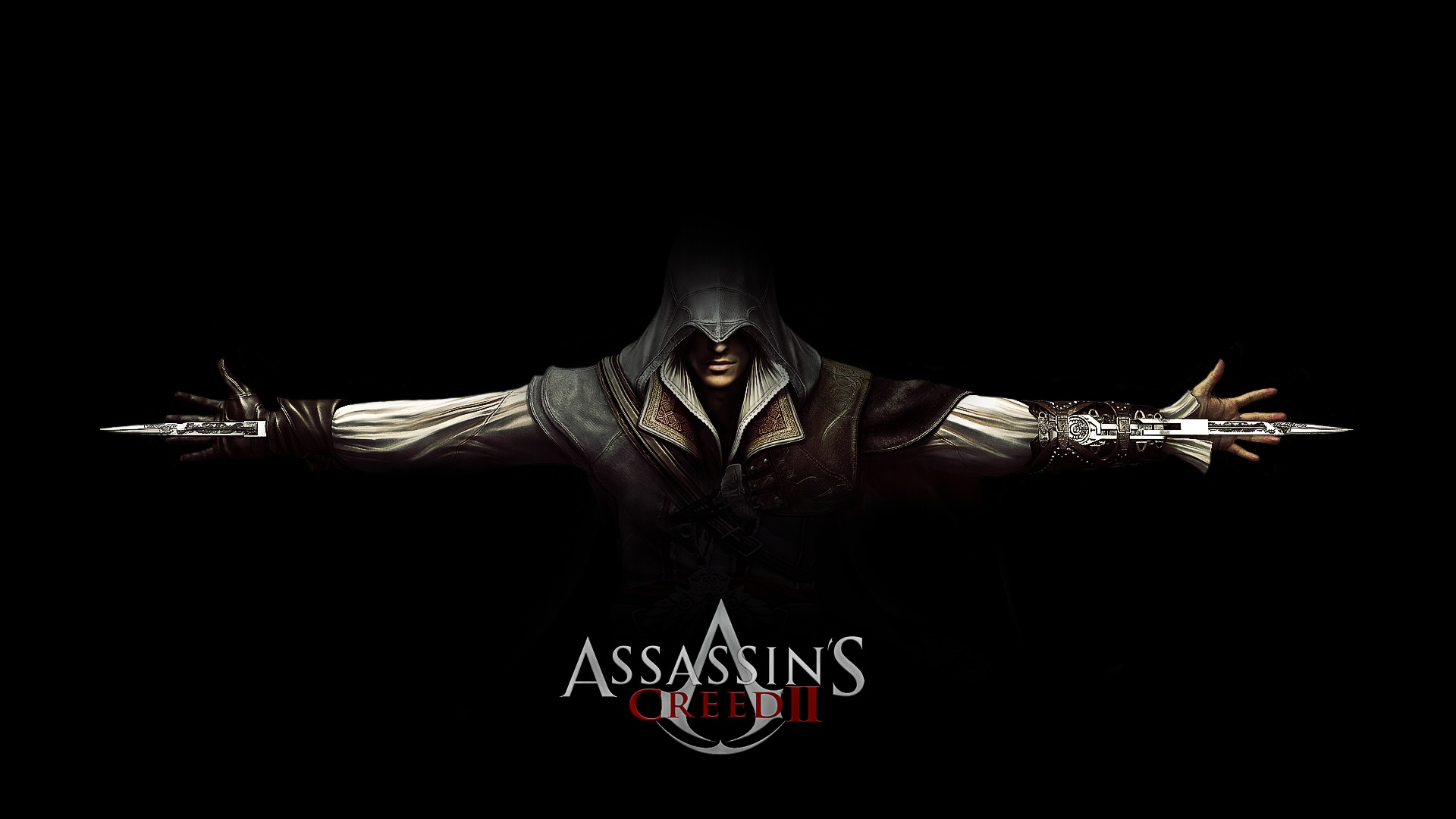 assassin cree II black wallpaper
