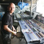 Fotis Sound's Przemyslaw Naguszewski with Midas XL8 at Woodstock Trainstop, Poland