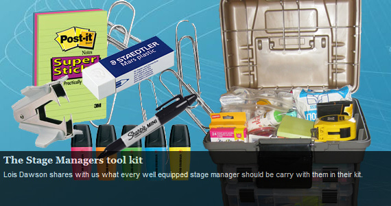 sm tool kit jead The Stage Managers tool kit