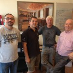 L-R Iberian's Tim Gorrange & Richard Davis and Les Allitt with Roger Willems from CLD Distribution / Penn-Elcom