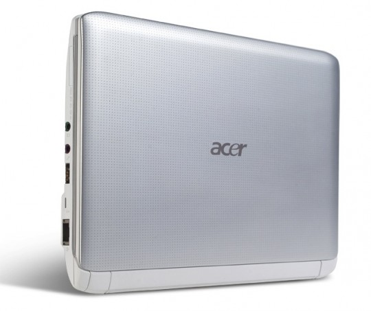Aspire One 532h silver cover standing 540x453