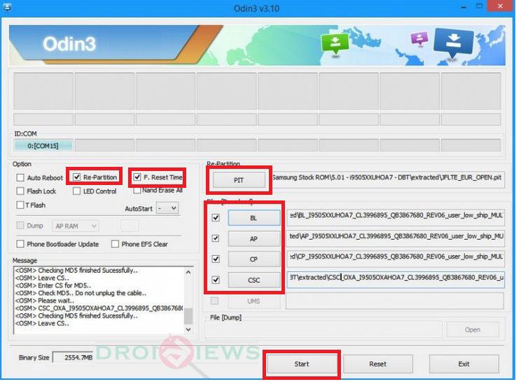odin-firmware-multiple-fichiers