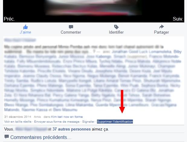 Supprimer Identification Facebook