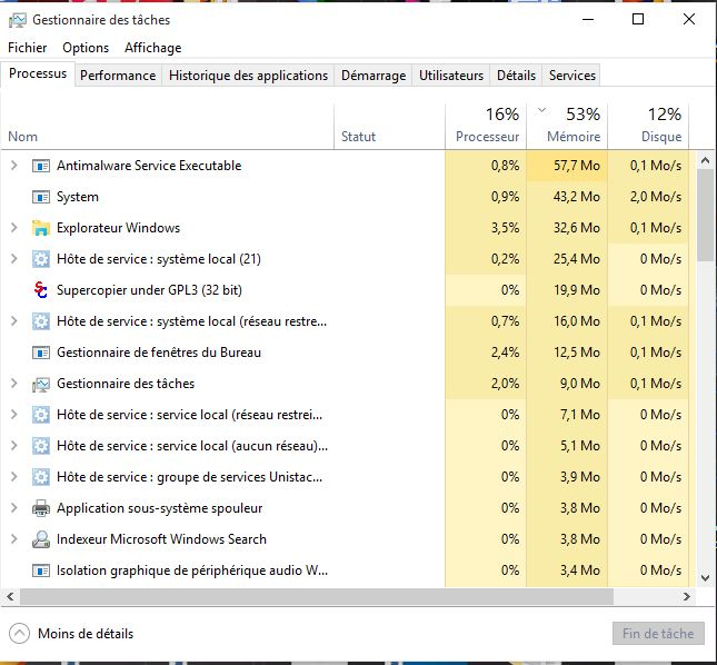 Windows 10 RAM