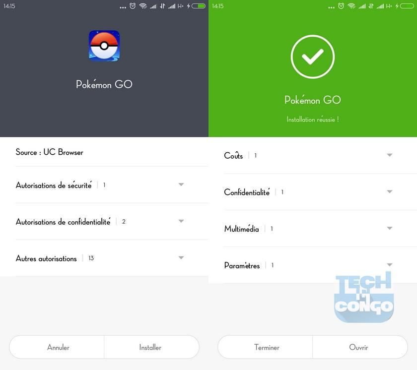 Installation Pokemon Go