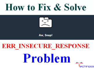 ERR_INSECURE_RESPONSE