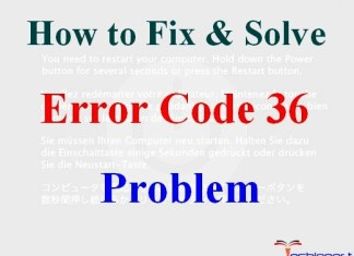 Error Code 36
