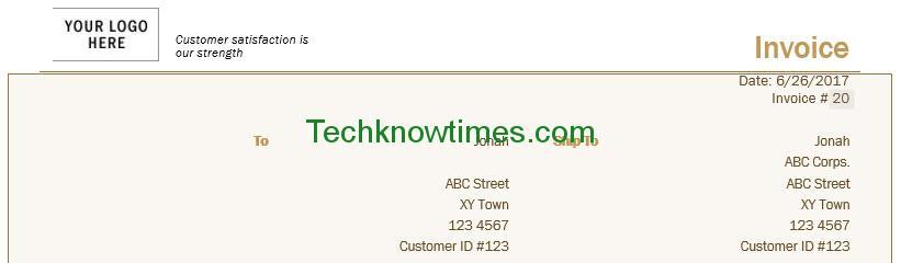 Contractor Invoice Template Microsoft Word