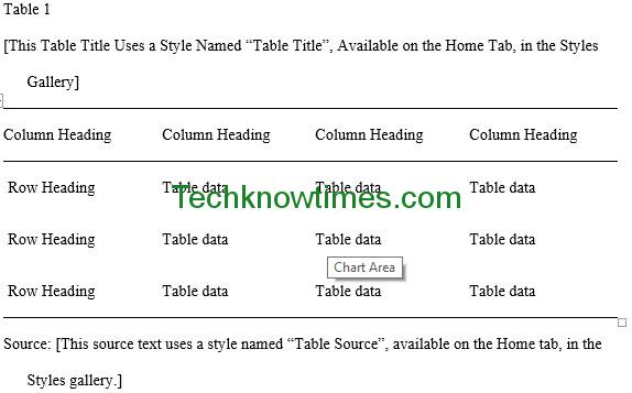 MLA Outline Template in MS Word
